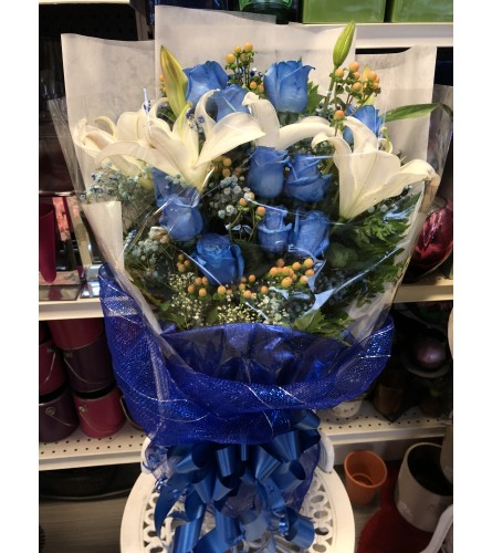 Blue Love Hand-tied Bouquet