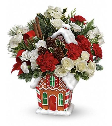 Gingerbread Cookie Jar Bouquet 14