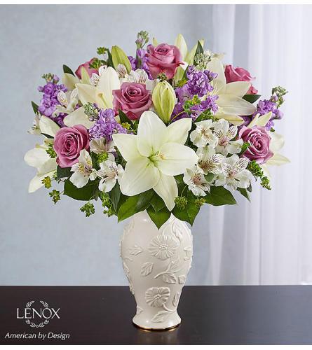 A Loving Blooms in Lenox Purple & White