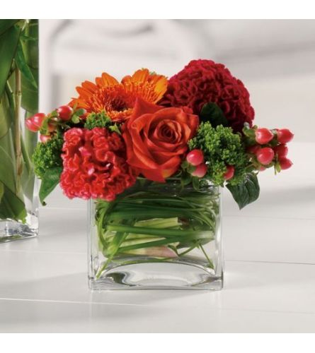 FALL MIX IN LOW VASE