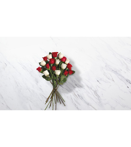 Wrapped Candy Cane Roses