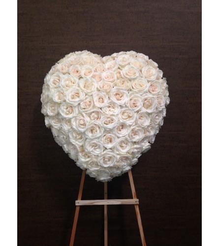 Pure White Grace Heart