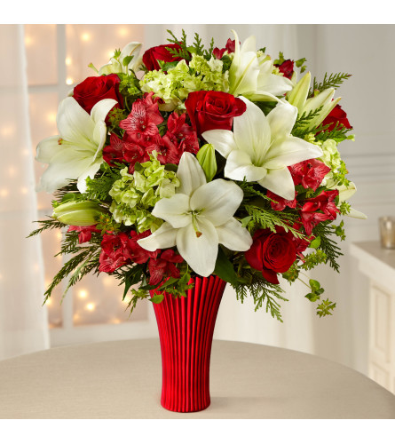 holiday rose bouquet