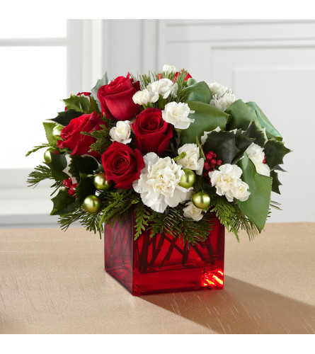 Merry and Bright Bouquet Vase