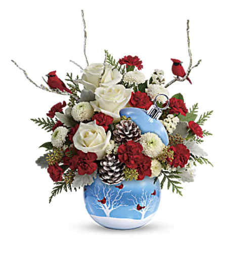 Joyful Greetings Cardinal Bouquet