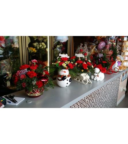 Christmas Snowman Arrangement