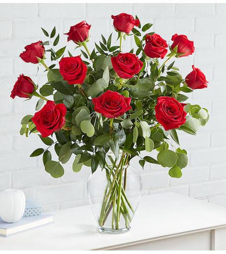 Hearts Desire Roses One Dozen