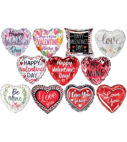 """9""""  Assorted Valentine Balloon on Pic"""