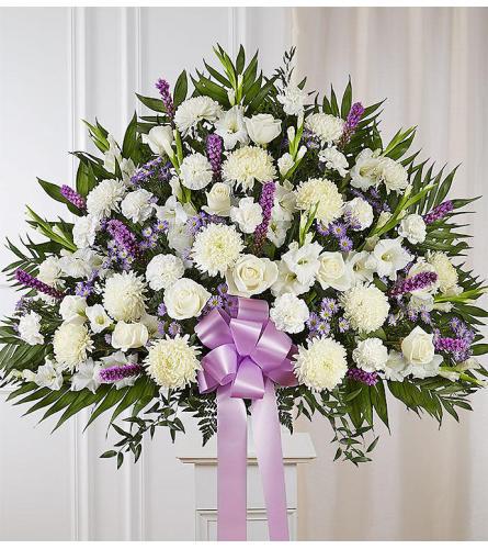 The Heartfelt Sympathies Standing Basket - Lavender XL