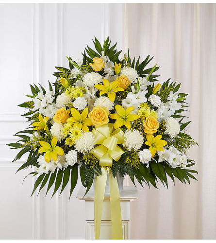Heartfelt Sympathies™ Basket- Yellow