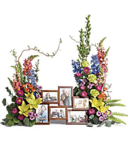 Teleflora Loving Farewell Photo Tribute Bouquet