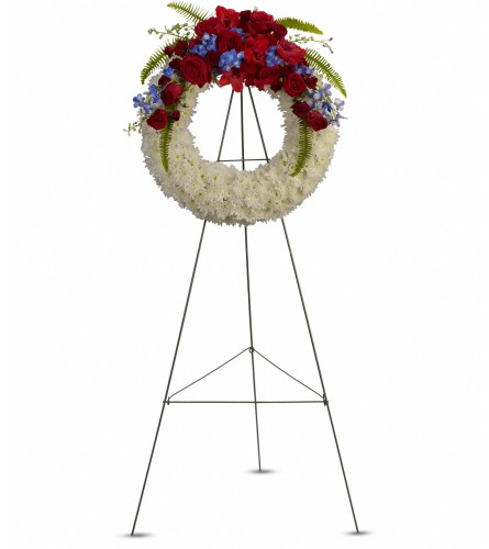 Reflections of Glory Wreath by Teleflora