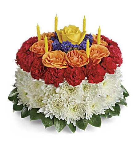 The Your Wish is Granted Birthday Cake Bouquet
