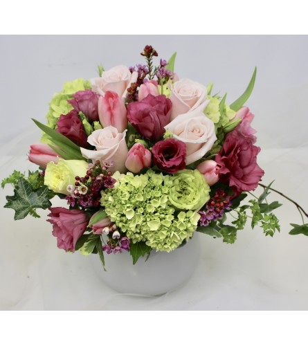 Roses & Hydrangea Bowl