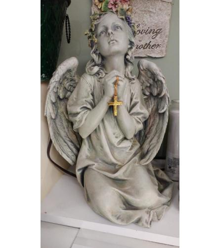 Angel With Gold Cross