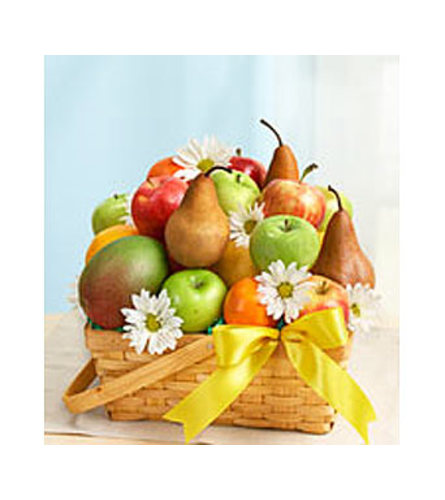Fruit and Daisies