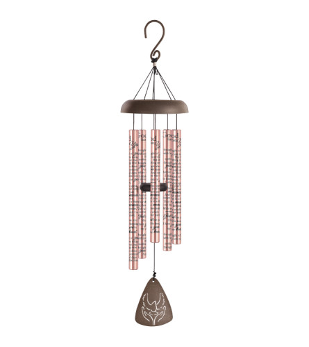 "30"" Sonnet Windchime - God Has You - Rose Gold"