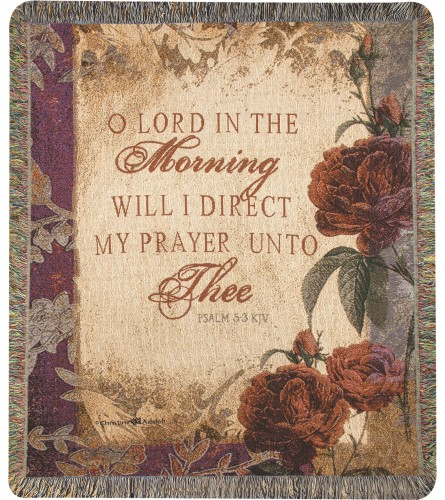 Tapestry Throw - O' Lord In The Morning