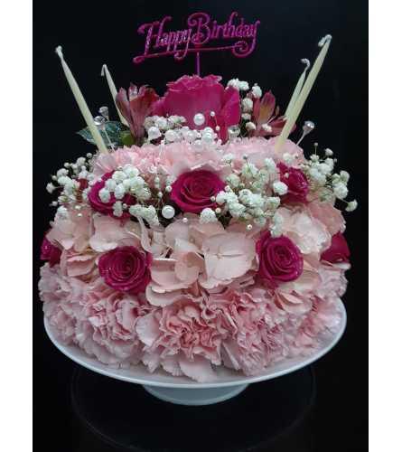 Peachy Strawberries Cream Birthday Cake Howard Beach Ny Florist Birthday Cards Printable Riciscafe Filternl