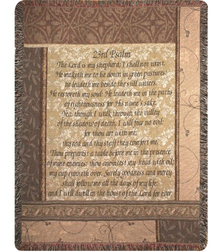Tapestry Throw - My Shepherd 23rd Psalm