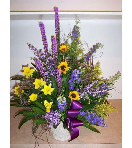 Spring Whispers Funeral Basket