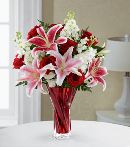 Red and White Romance Bouquet