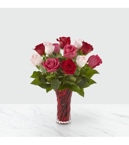 The Sweetheart Rose Bouquet One Dozen
