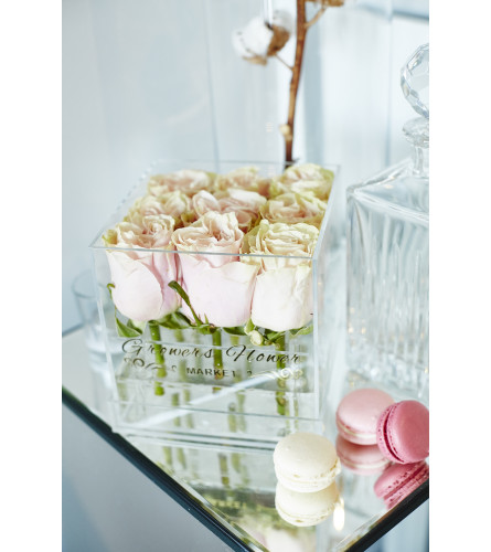 Acrylic Box square 9 Roses