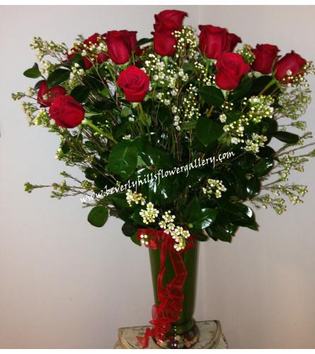 2 Dz Long Stem Red Roses