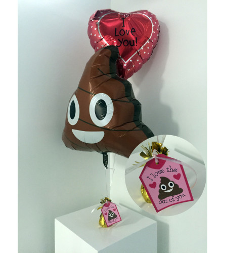 """I love the sh*t out of you"" Valentine's Day balloon set"