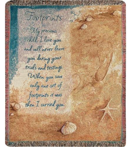 Tapestry Throw - Footprints