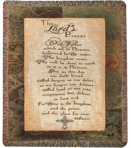 Tapestry Throw - The Lord's Prayer (2)