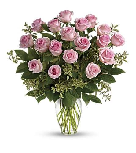 Dozen Long Stem Pink Roses