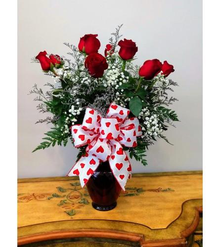 Classic Dozen Long Stem Rose Vase