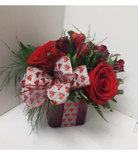Valentines Heart Present