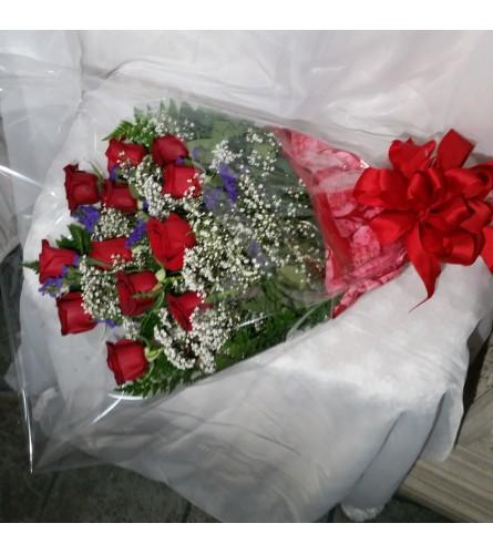loving wrapped roses