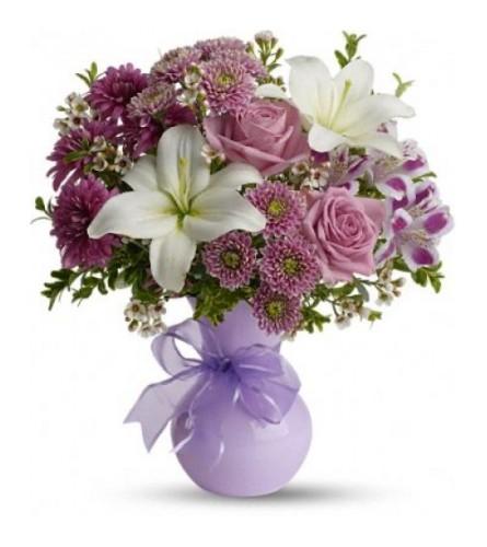 Precious in Purple And White