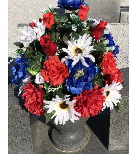 Silk Cemetery Flowers #2