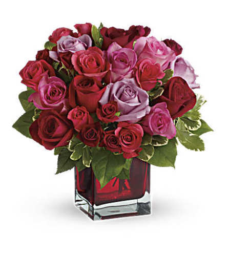 A Madly in Love Bouquet with Red Roses