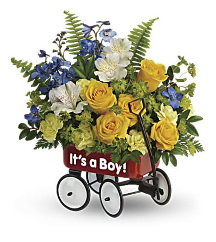 A Sweet Little Wagon Bouquet