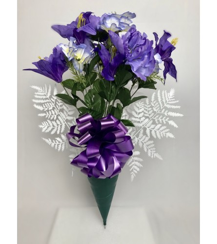 Graveside Silk Bouquet (Purple)