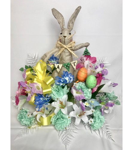 Easter Graveside Silk Pillow