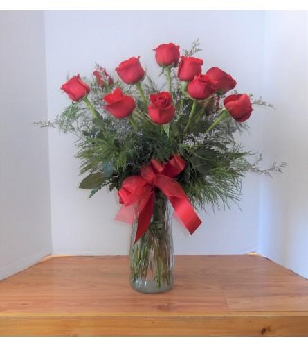 Lush Dozen Red Roses