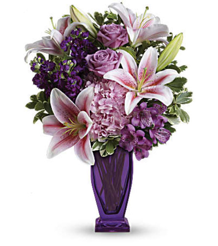 The Blushing Violet Bouquet