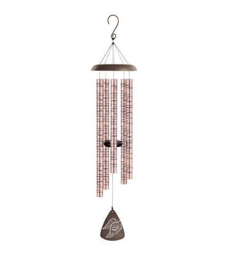 "44"" Sonnet Windchime - Angels Arms - Rose Gold"