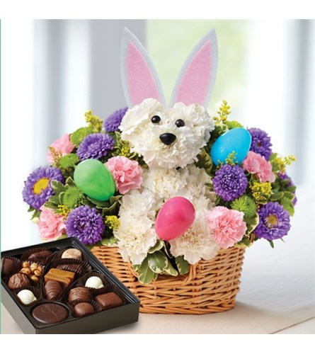 Beautiful Easter bunny loves you