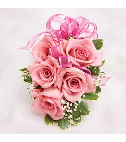 Wedding Pink Rose Corsage
