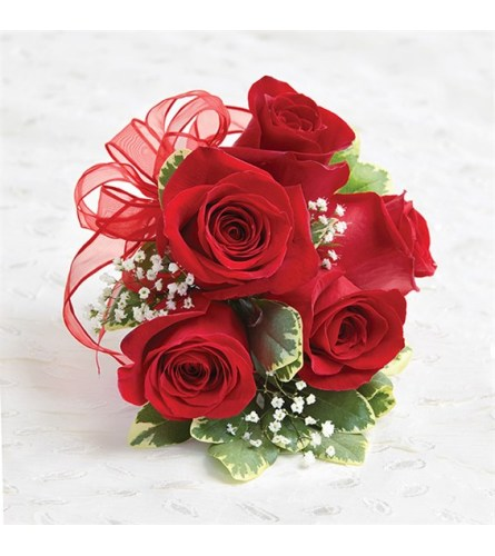 Wedding Red Rose Corsage