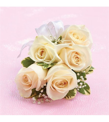 Prom White Rose Corsage