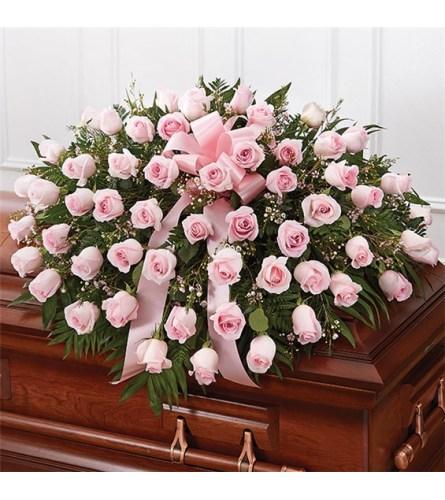 Pink Roses casket